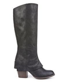 e1a42967a50 Look at this Black Lundry Boot on  zulily today! Fergie Boots