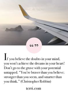 If you believe the doubts in your mind, you won't achieve the dreams in your heart! For more weekly podcast, motivational quotes and biblical, faith teachings as well as success tips, follow Terri Savelle Foy on Pinterest, Instagram, Facebook, Youtube or Twitter!