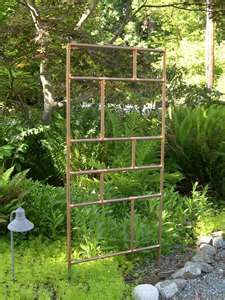 Upscale Handmade Hop Trellis Design With Wire Materials For Vines Plants Trestle Added Wooden Fence Ideas In Backyard Garden Decors: Imposing Vines Garden Trellis Design With Iron Materials As Garden Backyard Landscaping Ideas Metal Garden Trellis, Bamboo Trellis, Diy Trellis, Wooden Garden, Trellis Ideas, Hops Trellis, Wisteria Trellis, Privacy Trellis, Patio Trellis