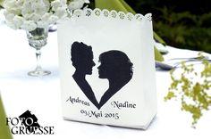 Hochzeitskerzen & Beleuchtung - Foto - Lichttüte mit Eurer Silhouette - ein Designerstück von Fotogruesse bei DaWanda
