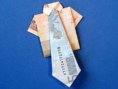 Geldschein falten Krawatte