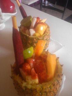 Fruta con chile y chamoy mmm