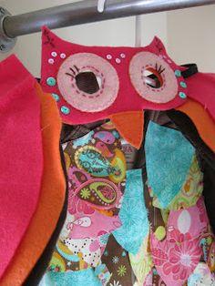 Girls' DIY Owl Halloween costume