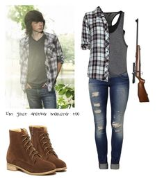"""""""Carl Grimes - twd / the walking dead"""" by shadyannon ❤ liked on Polyvore featuring Mavi, WithChic, Hurley, Rails, RIFLE, women's clothing, women, female, woman and misses"""