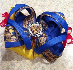 Despicable Me movie Inspired Minion boutique  bow  on Etsy, $8.00