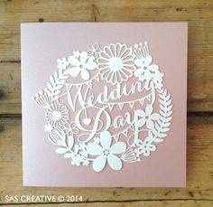 Wedding Day Papercut Card by SASCreative on Etsy, £4.00