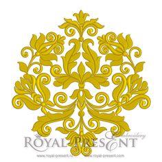 Дизайн машинной вышивки - Винтажный декор (3 в 1) | Классические дизайныRoyal Present Embroidery - дизайны машинной вышивки