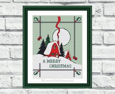 Modern cross stitch pattern Merry by CrossStitchObsession on Etsy