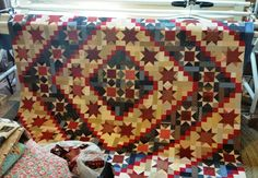 Stars and Scraps Forever Returns Home  Pattern is in American Patchwork and Quilting.  Love this quilt!!