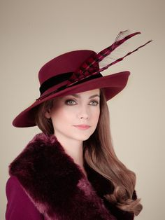 Shiraz Feather Hat, part of the Rachel Trevor-Morgan for Jacques Vert collection. #passion4hats