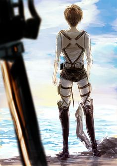 Eren Yeager. - Finally, the ocean <3 hope armin's alive. Can't decide if it's sad or what
