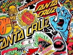 Explore Santa Cruz Wallpapers on WallpaperSafari Santa Cruz Skate, Santa Cruz Logo, Skateboard Logo, Old School Skateboards, Vintage Skateboards, Pop Art Wallpaper, Wallpaper Gallery, Santa Cruz Stickers, Graffiti