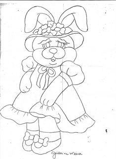 Projeto Coelhinha de vestido e chapéu     Corpinho  - pele diluído, sombrear com caramelo e depois acentuar a sombra com caramelo + ...