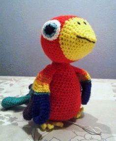 papegaai paul, gehaakte papegaai