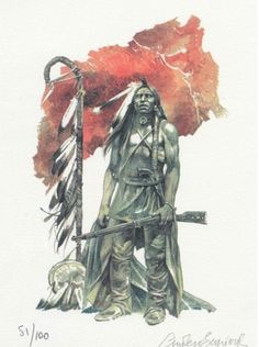 Native American Artists, Native American Indians, Native Americans, Serpieri, West Art, Fantasy Comics, Le Far West, Native Indian, Old West