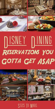 ADRs, or Disney advance dining reservations, are one of the many steps to a successful and fun trip to Walt Disney World. Without them, you're stuck wandering around and stressing out over where you could actually eat. This is incredibly important during busier times, like every month from January through until December  Most restaurants …