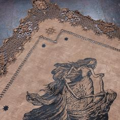 """3,599 Likes, 44 Comments - Poison Apple Printshop (@poisonappleprintshop) on Instagram: """"A detail of just one, of the many, altar cloths hitting the shop tonight at 6pm ET! This linen is…"""""""
