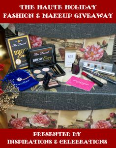 """Win this deluxe $200 prize package by entering """"The Haute Holiday Fashion & Makeup Giveaway"""" from Inspirations & Celebrations!"""