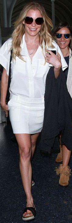 Who made LeAnn Rimes' white shirt dress?