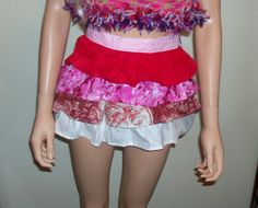 Small Ruffle Retro Half Apron by RocknHotdog on Etsy