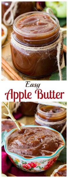 An easy homemade apple butter that can be made in your crockpot! || Sugar Spun Run via @sugarspunrun