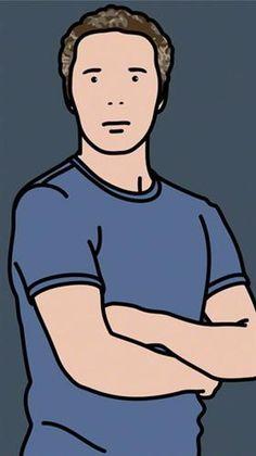 Julian Opie ('Julian with T-shirt') - Julian Opie
