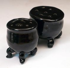 Cauldron Salt and Pepper Shakers - Merry Meet Dancing Cauldron Series - pinned by pin4etsy.com