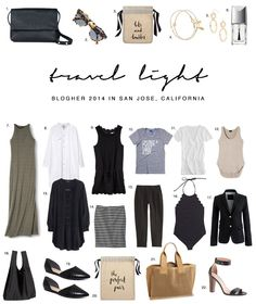 Travel Light, what to pack for vacation, how to pack light Travel Capsule, Travel Wear, Travel Style, Travel Outfits, Travel Fashion, Travel Wardrobe, Capsule Wardrobe, Summer Wardrobe, Capsule Outfits