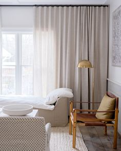 Easy Sunday style, achieved. Get the look at theshadestore.com.// Designed by Elizabeth Ariola Light My Fire, Living Room Windows, Glass Walls, Window Treatments, Blinds, Swatch, Neutral, Sunday, Curtains
