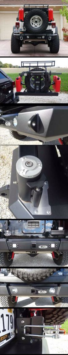 Nice Bumper design. 2007-2015 Jeep JK Generation 4 Signature Series Fullwidth Bumper w/ Tire Carrier