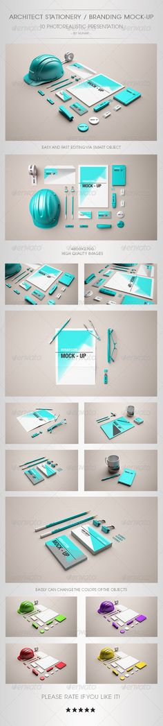 Architect Stationery Mock-Up