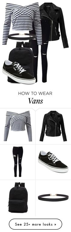 """""""Street Rebel"""" by forever-inspired on Polyvore featuring Miss Selfridge, Vans, Humble Chic, StreetStyle, school, Punk, edgy and skater"""