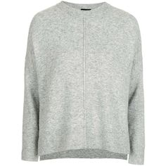 Topshop Petite Zip Side Crew Jumper ($49) ❤ liked on Polyvore featuring tops, sweaters, topshop, zip sweater, petite sweaters, topshop sweater, crew neck jumpers and zipper sweater