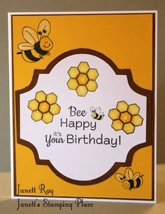 DRS Designs Rubber Stamps: Bee Happy Birthday