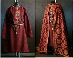 savelyeva ekaterina costume - rus/viking (more slavic than norse, block printed fabrics)