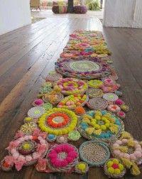 Плетение коврика в технике кумихимо из остатков ниток | Кумихимо | Чудо-техники | Уроки, мастер-класс | Ковровая вышивка и креативное рукоделие