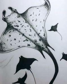 Manta Rays Night 🌊 #thebunnyart #tattooink #tattoos #tattoo #lineworktattoo #lines #inked #tattoodesign #inkedmag #fishtattoo #mantatattoo… Native Feather Tattoos, Ray Tattoo, Tattoo Ideas, Tattoo Designs, Line Work Tattoo, Manta Ray, Bunny Art, Painted Wine Glasses, Word Tattoos