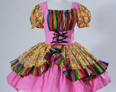 Mexican Senorita Dress - Tequila Waitress Costume - Day of the Dead Dress - Halloween Costume - Flamenco Dancer Dress - Womens Medium