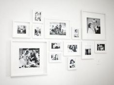 Wall Display Gallery Frame Layout 59 New Ideas Wedding Picture Walls, Wedding Photos, Wedding Wall, Wedding Ideas, Wall Collage, Frames On Wall, Ikea Frames, White Frames, Collage Ideas