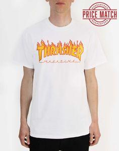 dd0374ab8abd Thrasher Flame Logo T-Shirt - White
