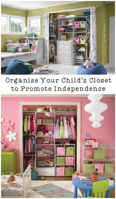 How to Organise Your Childrens Closet So They Can Learn Independence Kids Bedroom, Bedroom Decor, Kids Rooms, Bedroom Ideas, Girl Bedrooms, Bedroom Colors, Home Decoracion, Kids Room Organization, Organization Station