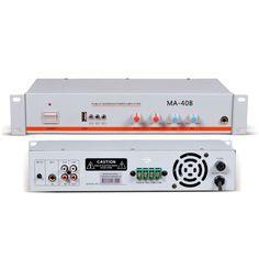 c463251e4cd8e9 2 MIC inputs, 100v 70v outputs, 40w, with USB/SD Card Website:  www.t-soar.com. Selin · Mixer Amplifier