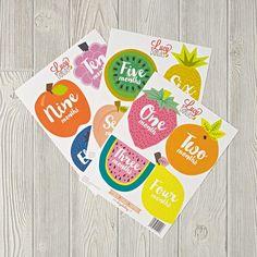 Tutti Frutti 12-Month Stickers