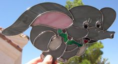 Stained Glass Disney's Dumbo by StainedGlassbyWalter on Etsy, $45.95