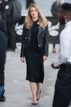 Amber Heard - 'Jimmy Kimmel Live' in Los Angeles. Irina Shayk, Blake Lively, Amber Heard Style, The Danish Girl, Parisian Chic, Look Chic, Daily Fashion, Nice Dresses, Ideias Fashion