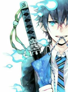 Rin Okumura, Ao no Exorcist or blue exorcist great anime rin is awsome and his brother action is great and concept one of the best Ao No Exorcist, Blue Exorcist Anime, Art Manga, Manga Anime, Anime Art, Rin Okumura, Mephisto, I Love Anime, Awesome Anime
