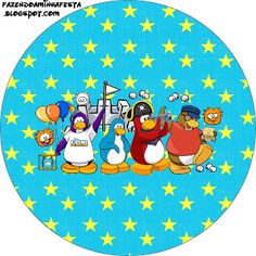 Making My Party!: Club Penguin - Complete Kit with frames for invitations, labels for snacks, souvenirs and pictures!