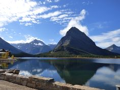 "Taken from in front of ""Many Glacier Hotel"" in Glacier National Park 10/15. For more photos like this visit, http://glaciernationalpark.mobi"