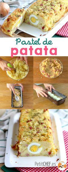Si te gusta el puré de patatas, esta es tu receta! mezcla el puré con los ingredientes que más te gusten, sazónalo con especias y hornéalo con sorpresa dentro! #pascua #pastel #patata