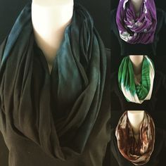 Organic Hand Dyed Infinity Scarf Scarves Tie Dye Free by dyeout